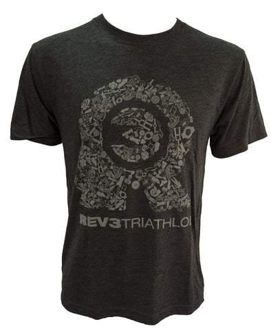 REV3 Bike Parts Short Sleeve T-Shirt - Charcoal