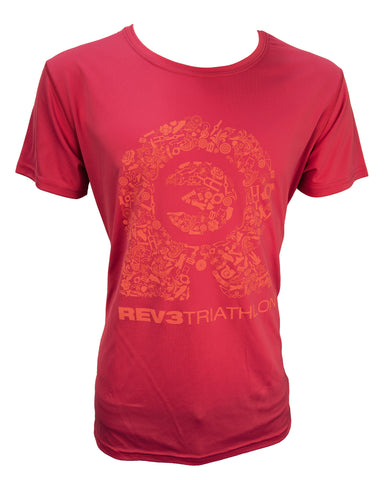 REV3 Bike Parts Short Sleeve T-Shirt - Pink
