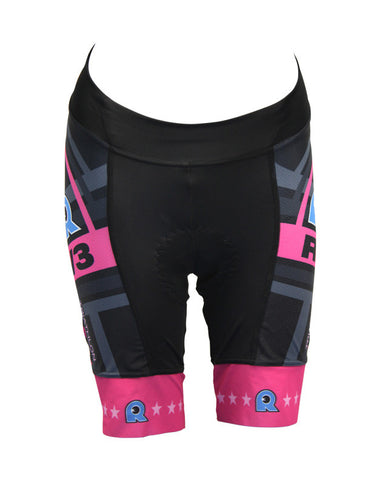 Rev3 Castelli women's Team Short pink on black