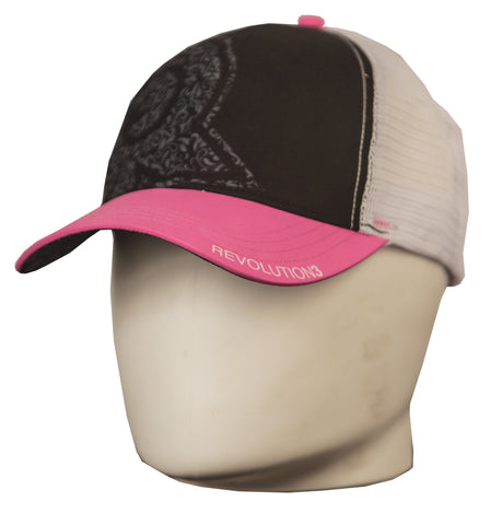Rev3 Pink Floral Trucker Hat