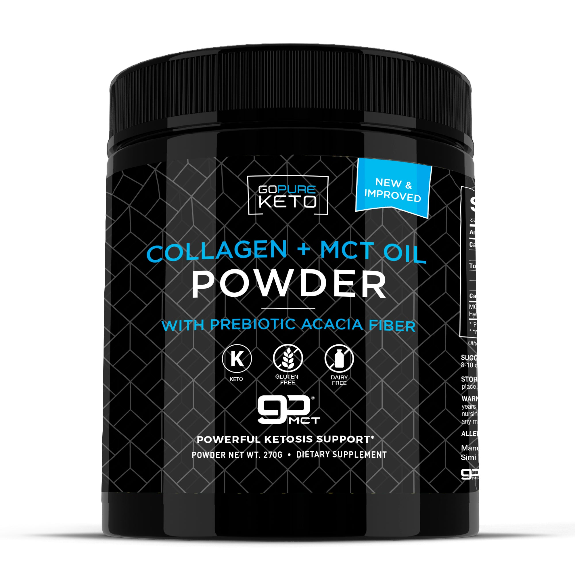 Keto Collagen + MCT Oil Powder - 30 Servings Unflavored