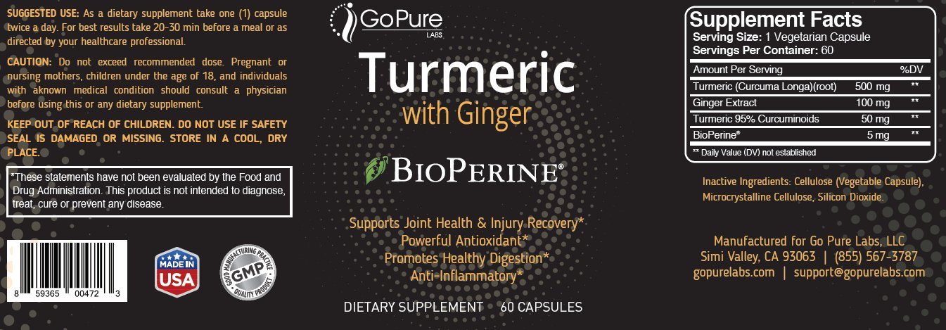 Go Pure Apple Cider Vinegar and  Go Pure Turmeric with Ginger *BioPerine