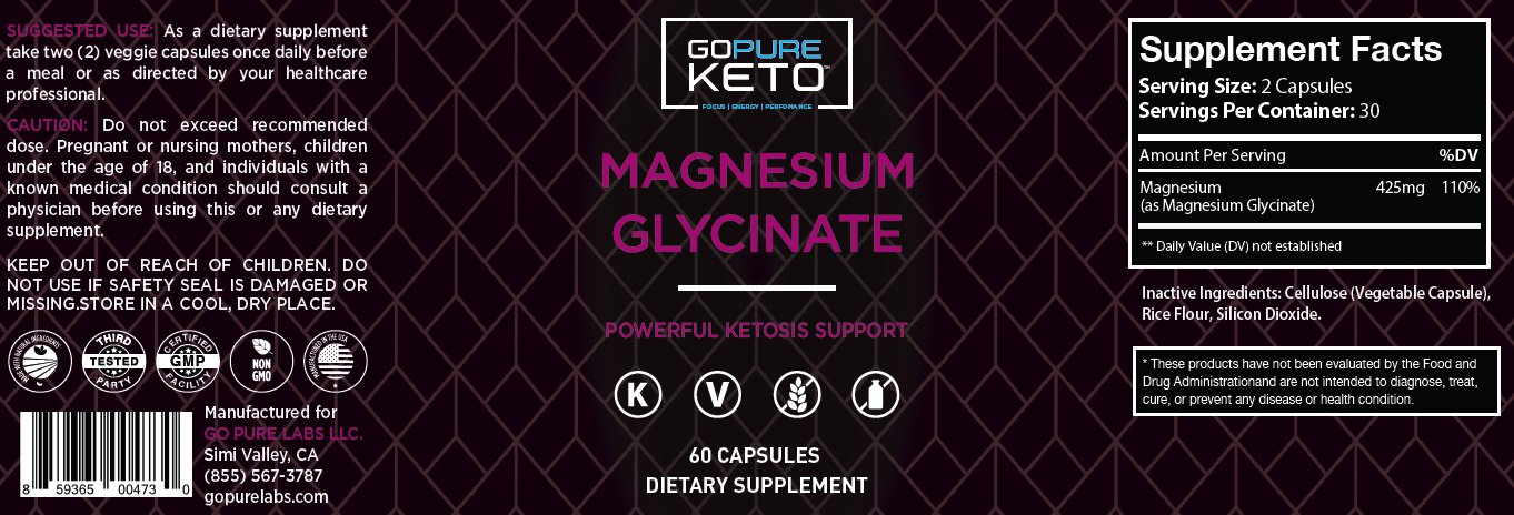 Go Pure Magnesium Glycinate