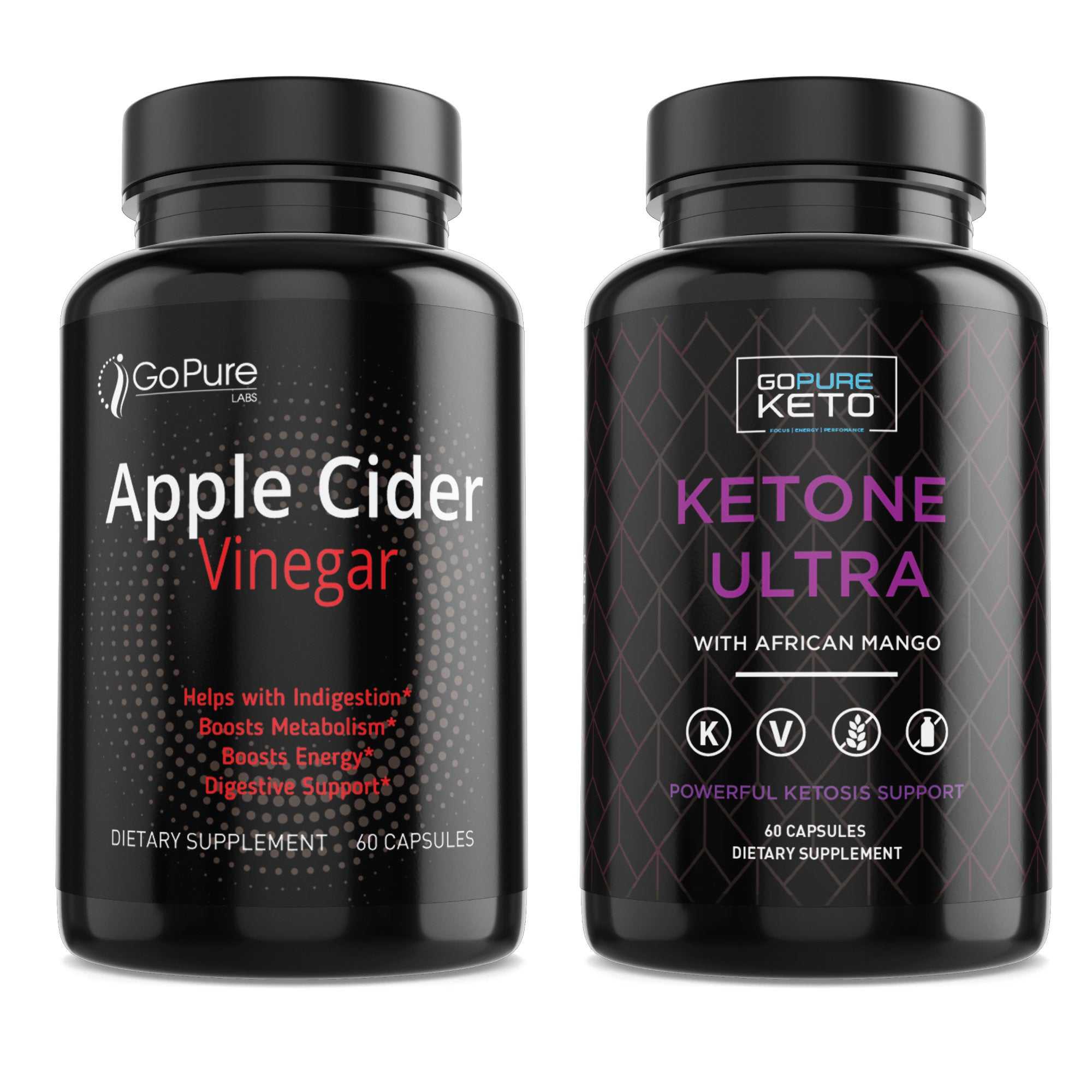 Go Pure Apple Cider Vinegar and Go Pure Keto Ultra