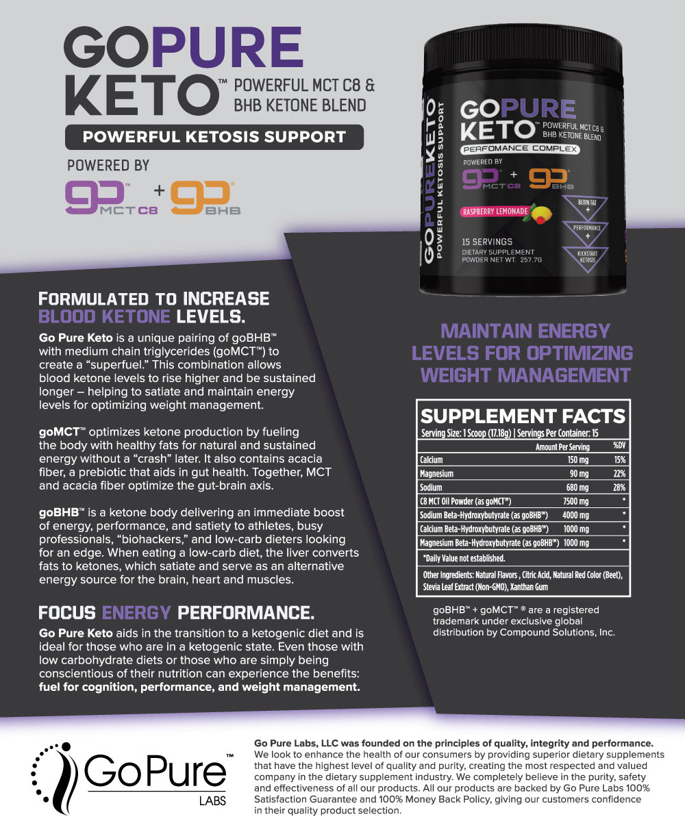 Go Pure Keto Performance Complex