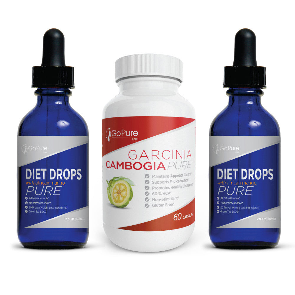 Transformation Diet Drops 2 pack + Free Garcinia Cambogia