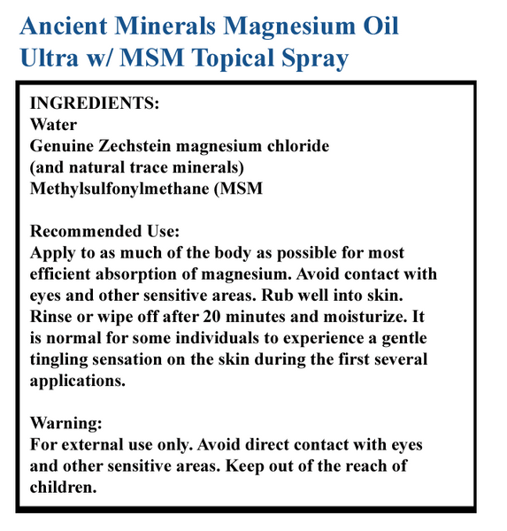 Magnesium Oil Ultra w/ MSM Topical Spray