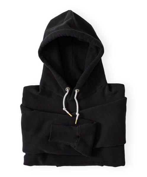 Men's Black Organic Hooded Sweatshirt by Victor Athletics