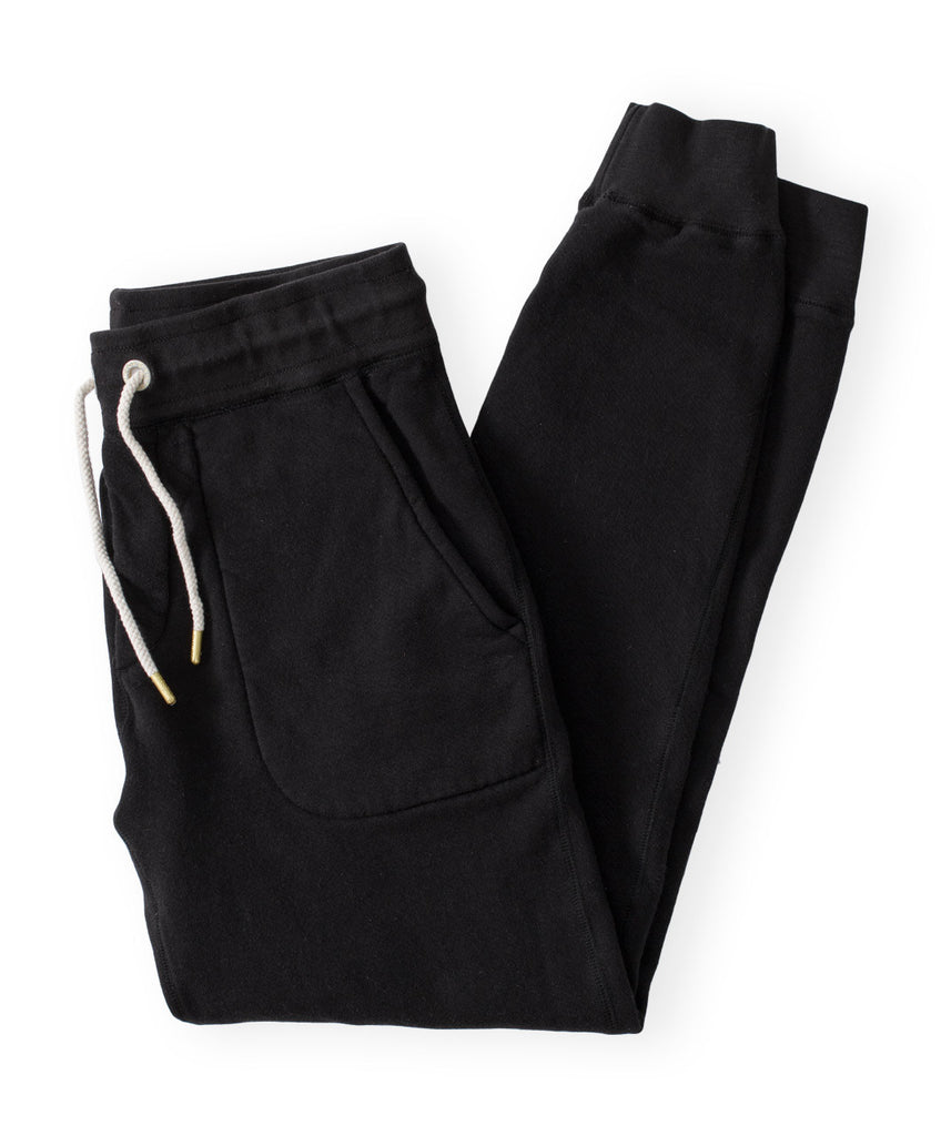 Men's Black Organic Jogger Sweatpants by Victor Athletics