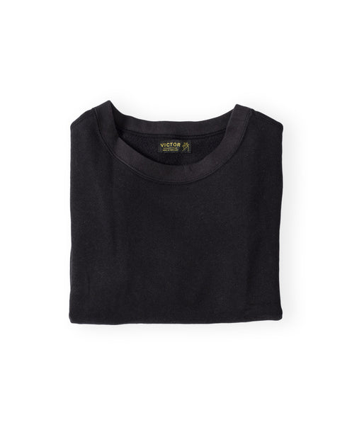 Women's Black Organic Crewneck Sweatshirt by Victor Athletics