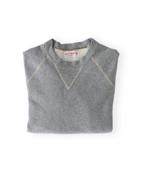 Men's Heather Grey Organic Crewneck Sweatshirt by Victor Athletics