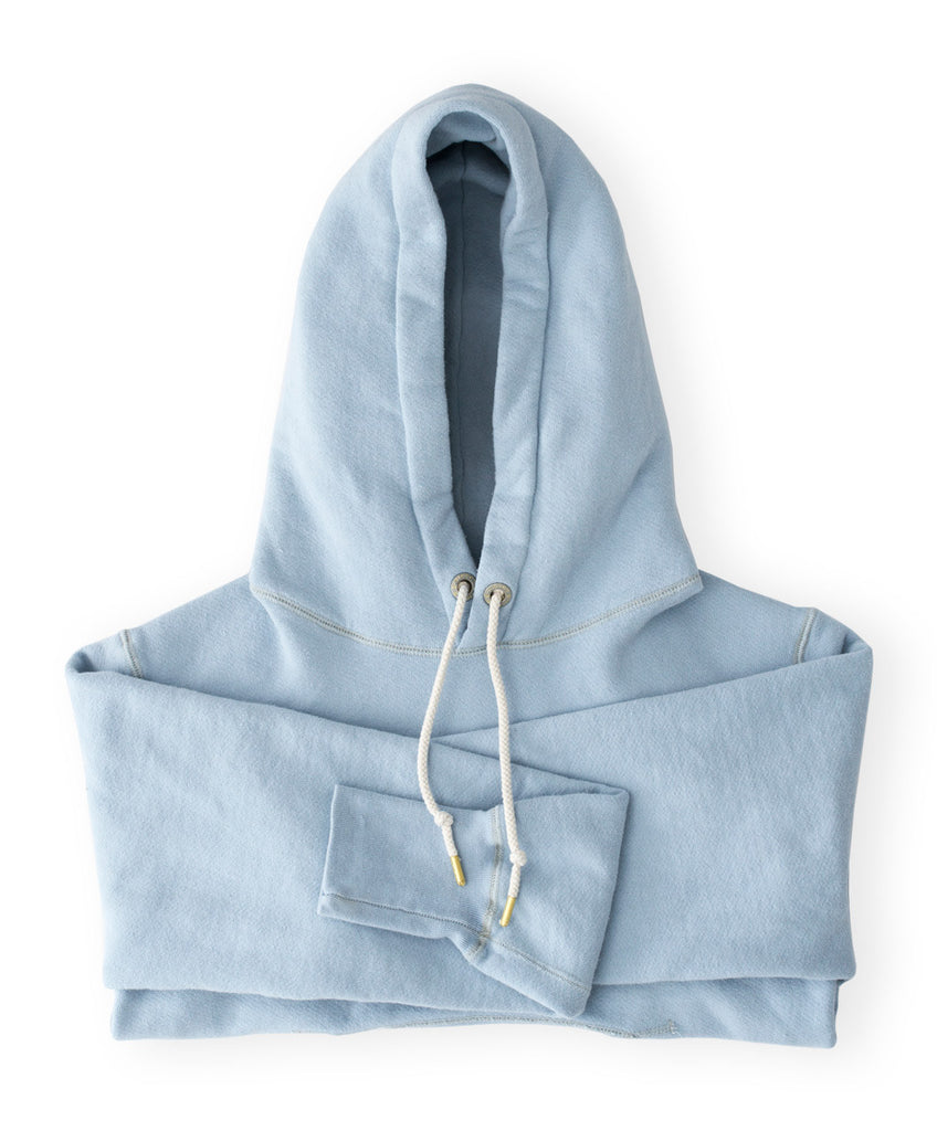 Men's Light Blue Organic Hooded Sweatshirt by Victor Athletics