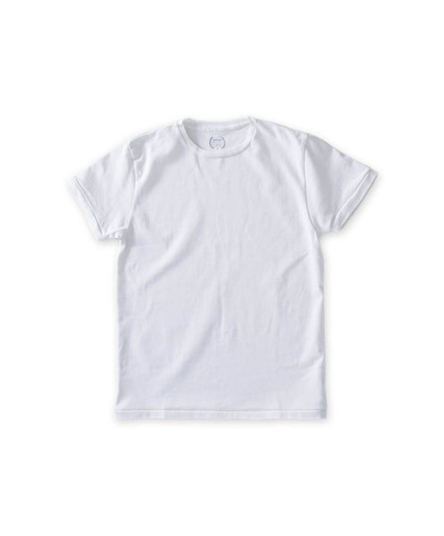 Men's White Organic Heavy Weight Tee Shirt - Victor Athletics - Flat Lay