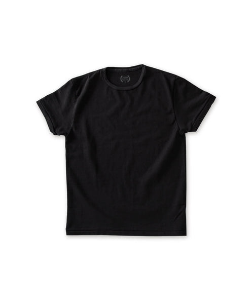 Men's Black Organic Heavy Cotton Tee - Victor Athletics