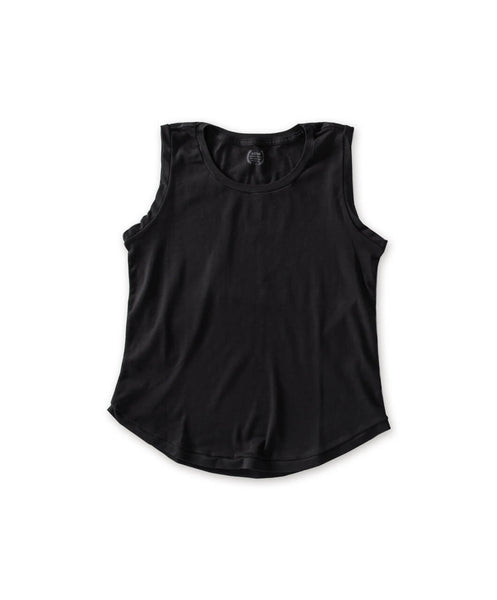 Women's Black Organic Tank Top - Victor Athletics