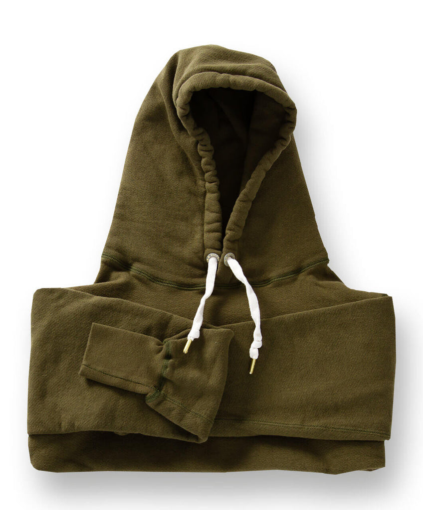 Men's Organic Hooded Sweatshirt by Victor Athletics - Olive Green