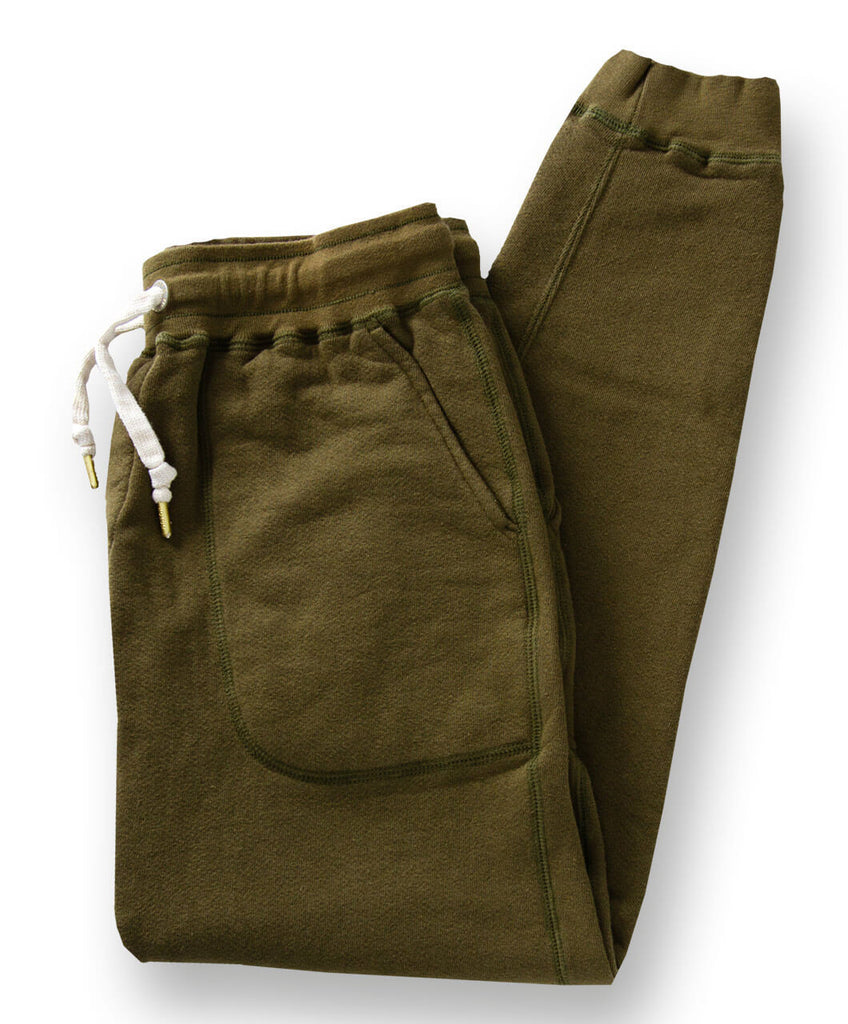 Men's Organic Jogger Sweatpants by Victor Athletics - Olive Green