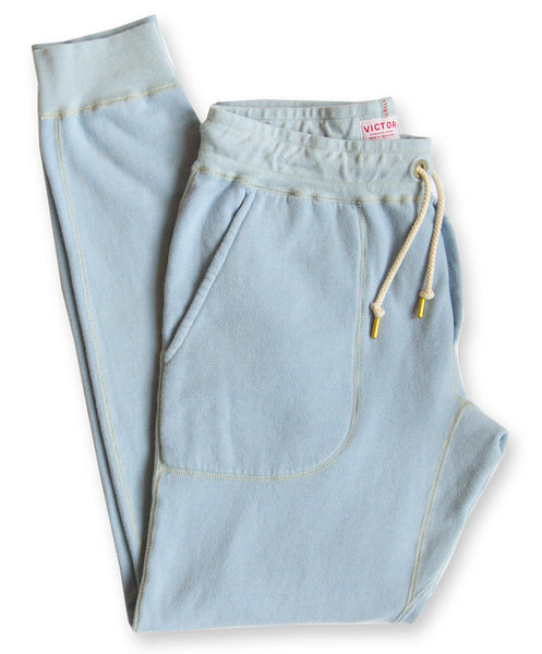 Men's Light Blue Organic Jogger Sweatpants by Victor Athletics