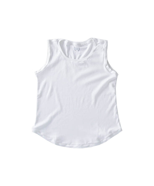 Women's White Organic Tank Top - Victor Athletics