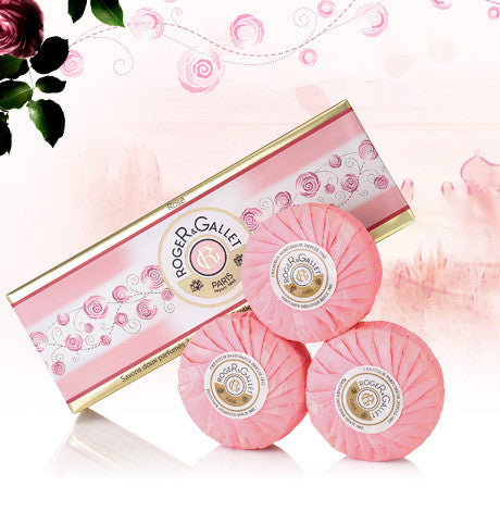 Rose Relaxing Perfumed Soap Coffret of 3 soaps