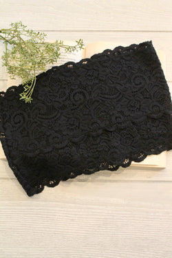 Black Lace Bandeau