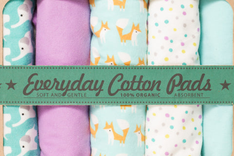 Piperoos everyday cotton pads - 100% organic cotton - eco friendly - www.piperoos.com