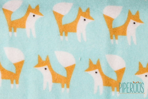 Piperoos Eco Friendly Baby Change Pad Organic Cotton Foxes