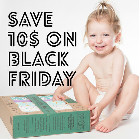 Save 10$ BLACK FRIDAY Piperoos ecofriendly baby change pads
