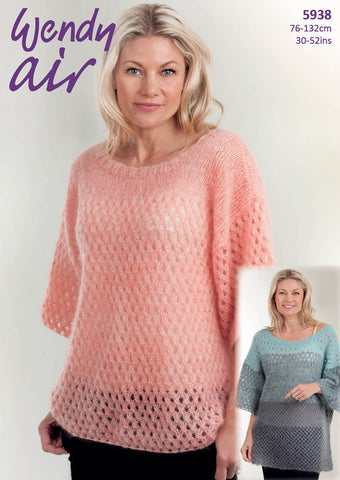 Air - Ombre T-Shaped Top - 5938 -  at Spun Yarn Shop