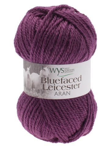 Bluefaced Leicester Colours - Aubergine at Spun Yarn Shop - 1
