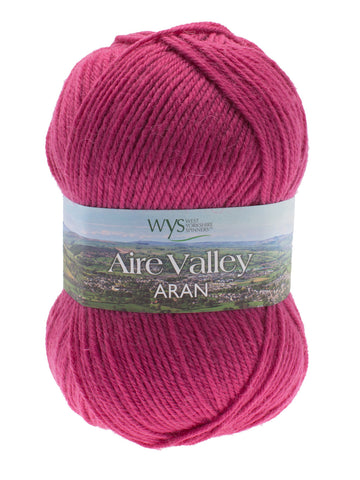 Aire Valley Aran - Pink at Spun Yarn Shop - 1