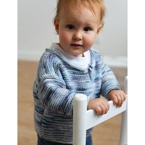 Ella Rae - Cozy Soft - Boys Garter Stitch Sweater