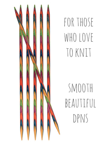 Symfonie Double Pointed Knitting Needles -  at Spun Yarn Shop