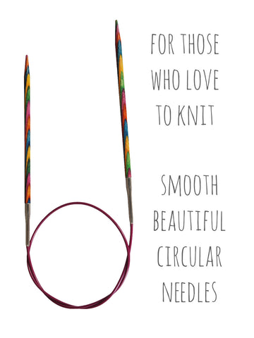 Symfonie Fixed Circular Knitting Needles - 80cm -  at Spun Yarn Shop