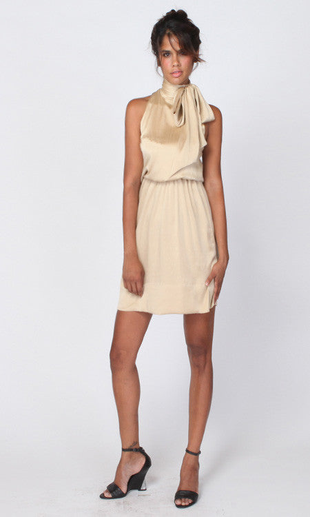 CECE silk neck-tie dress