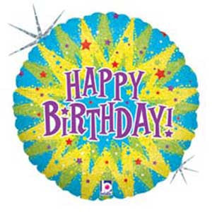 Bursting Birthday Foil