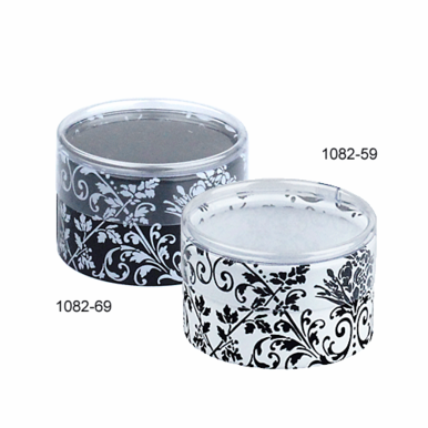 Black & White Damask Favor Box