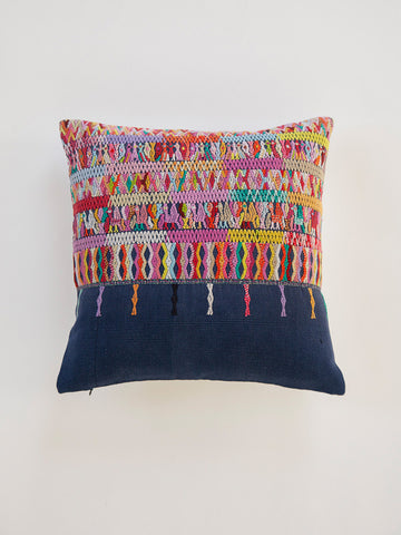 Vintage Guatemalan Ethnic Throw Pillow