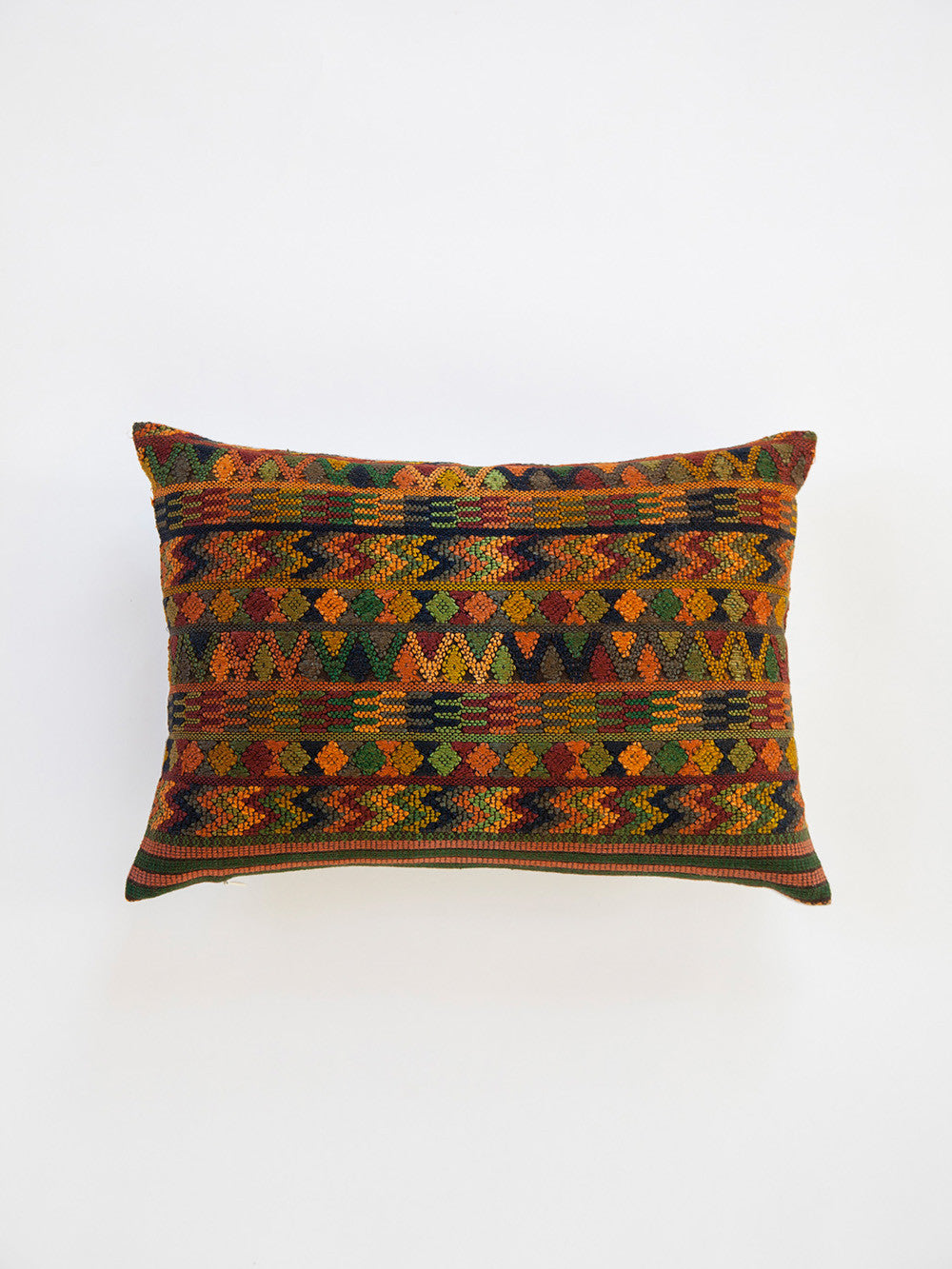 Vintage Green Silk Pillow