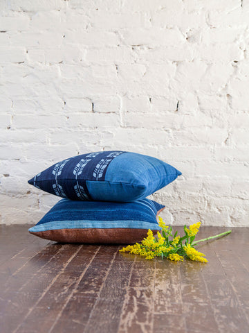 Vintage Japanese Indigo Pillow
