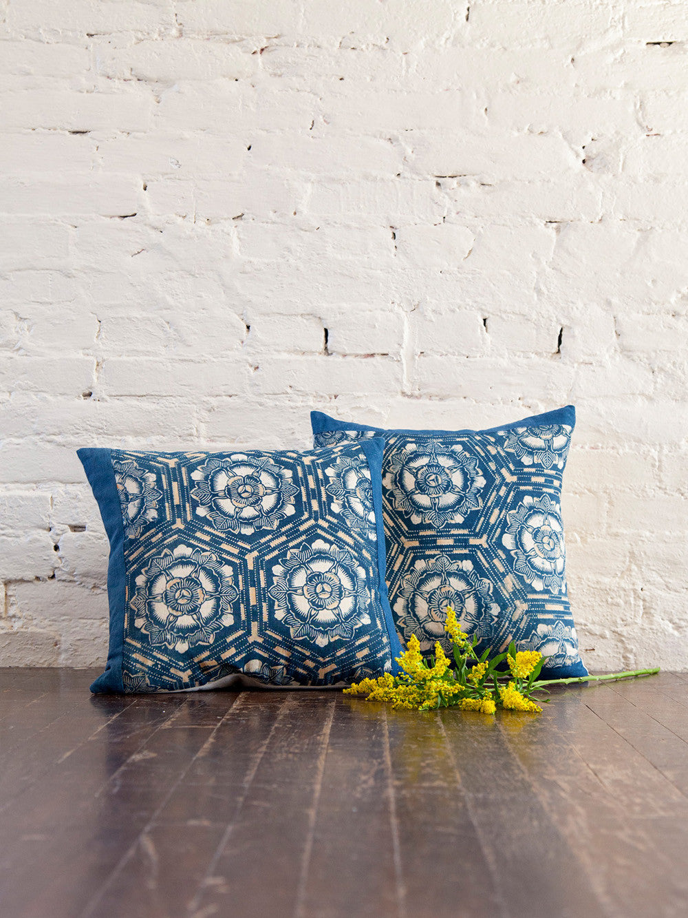 Antique Japanese Indigo Throw Pillows
