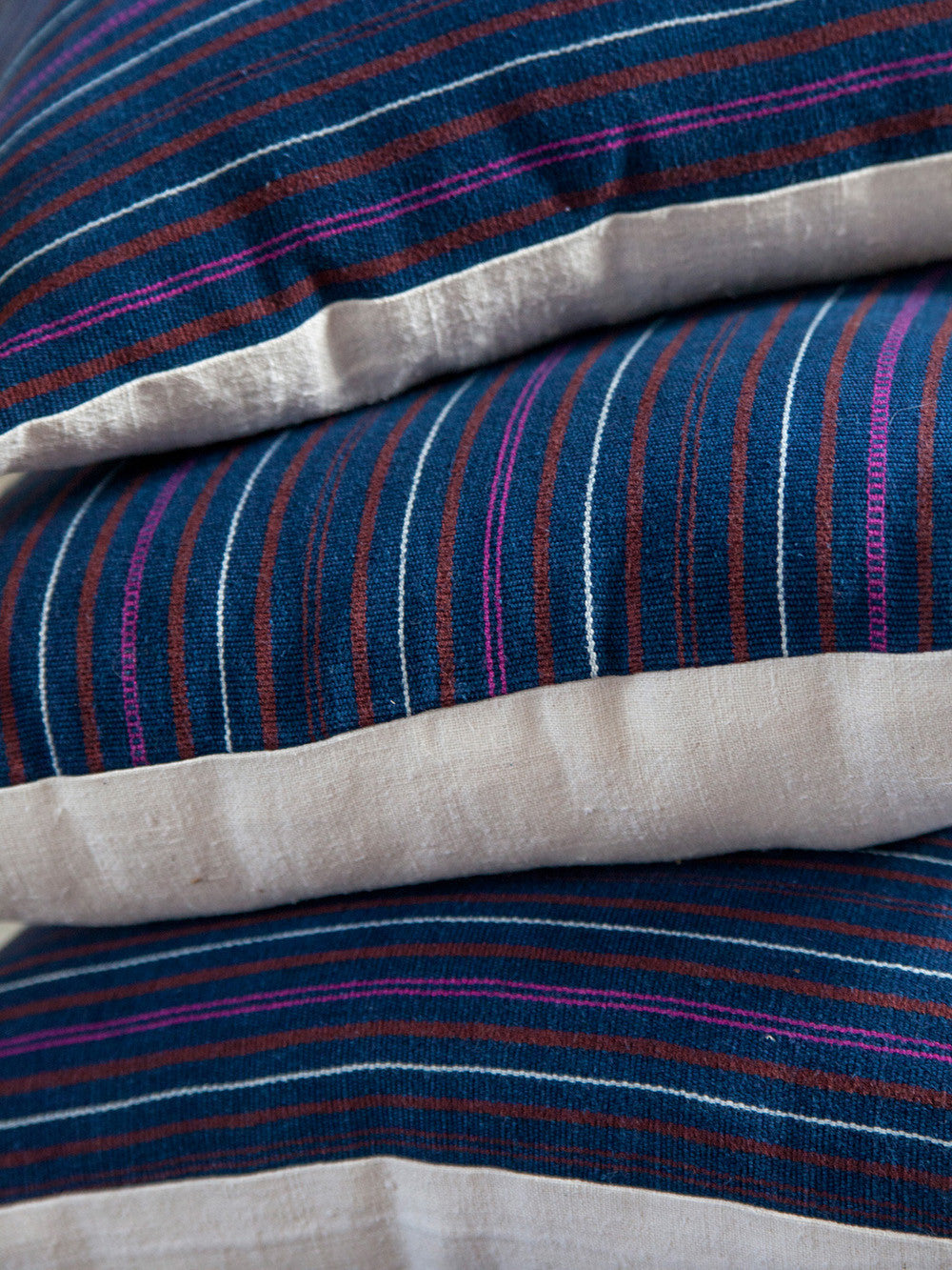 Vintage Indigo Stripe Pillows