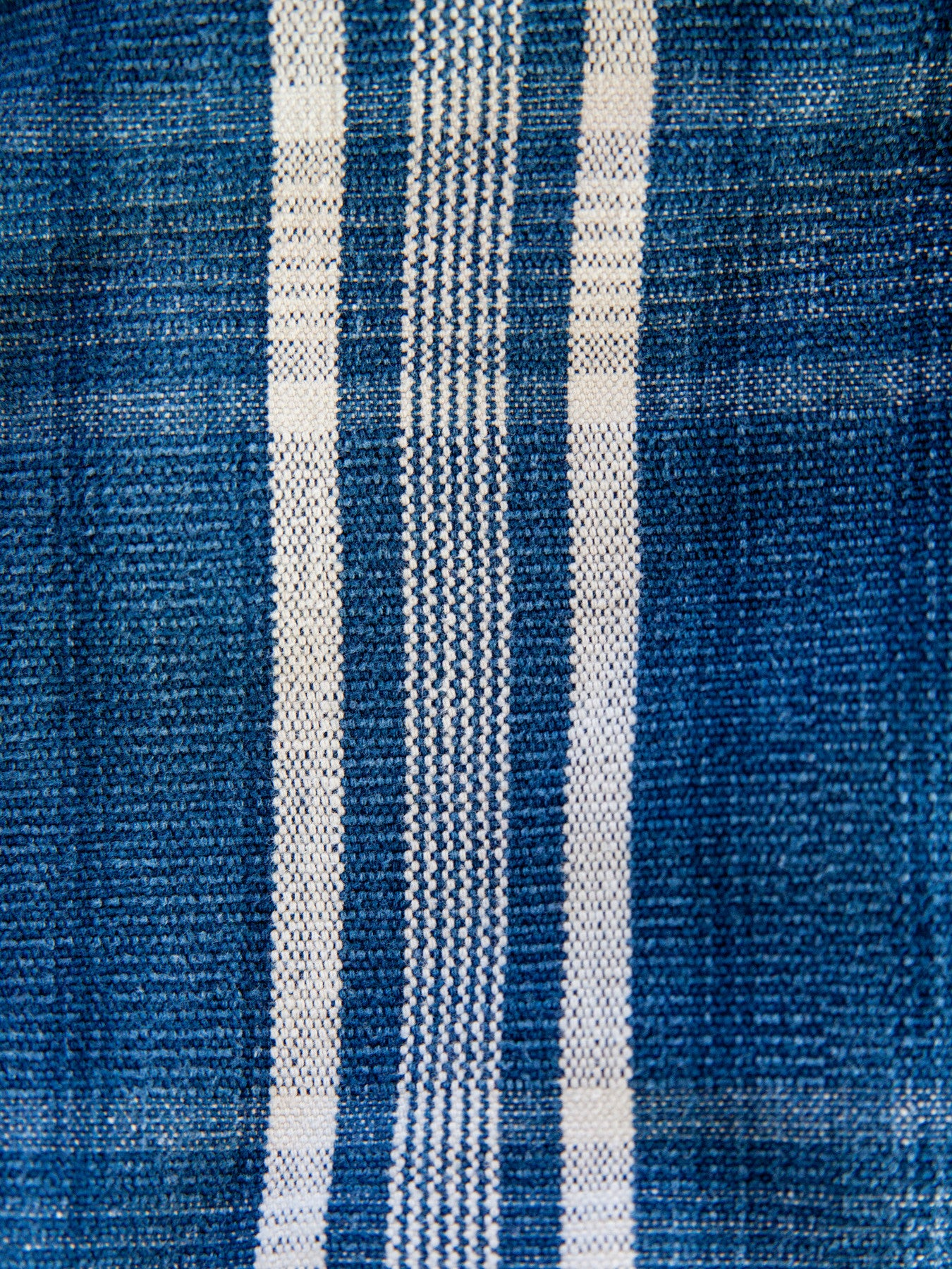 Vintage Stripe Indigo Throw Blanket