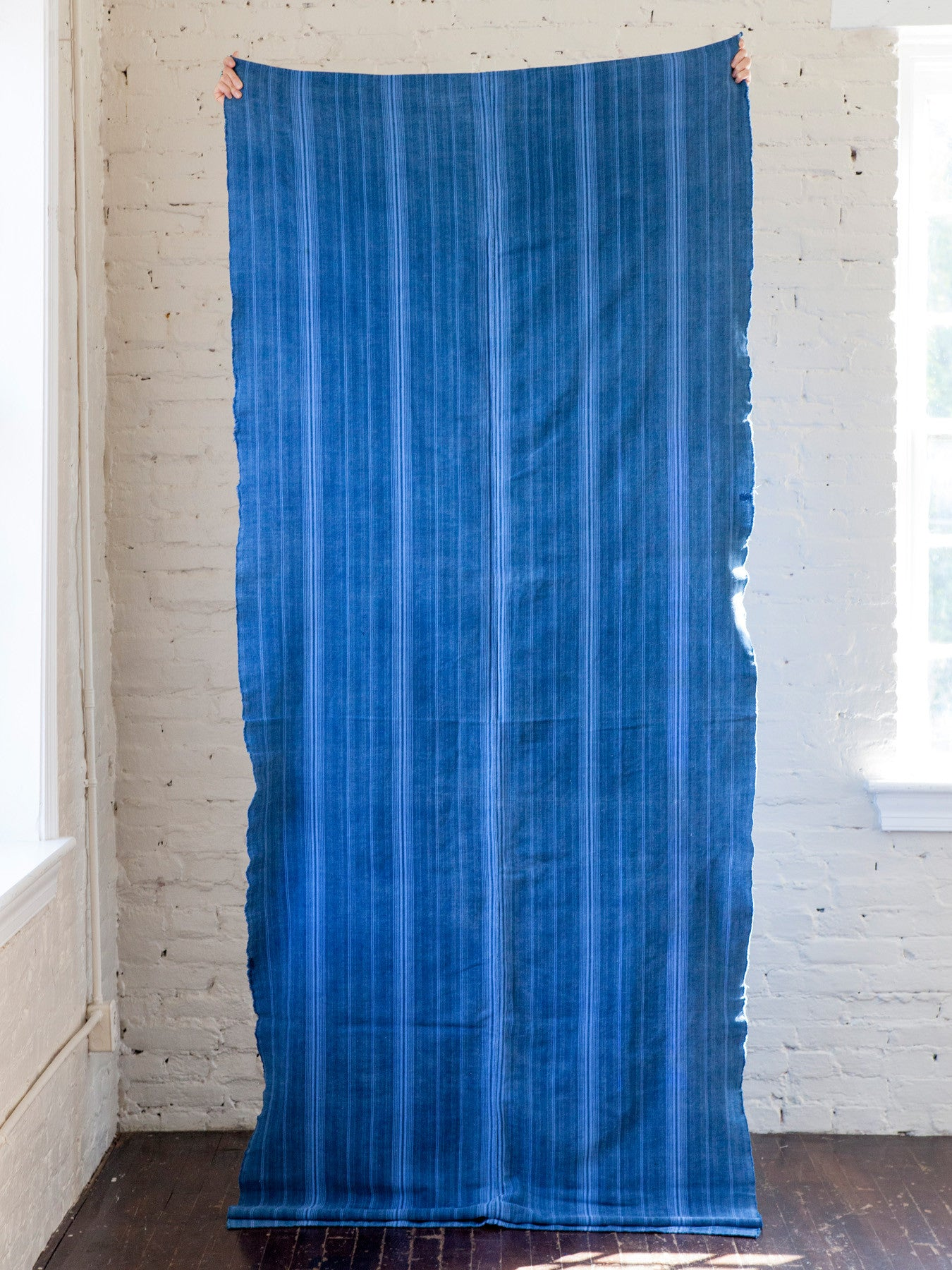 Vintage Indigo Throw Blanket