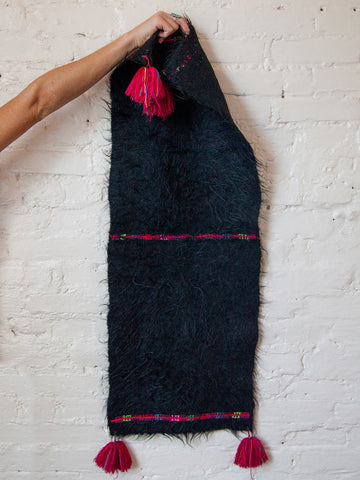 Wool Throw with Tassels