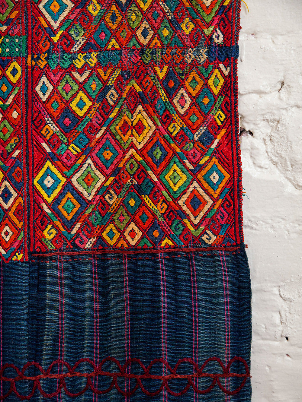 Antique Wall Tapestry Hanging Guatemala
