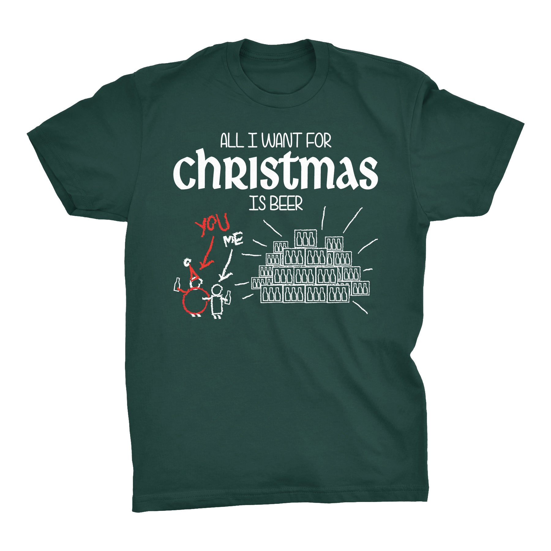 All I Want For Christmas Is BEER - Christmas T-shirt