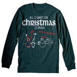 All I Want For Christmas - SNOW-Long Sleeve