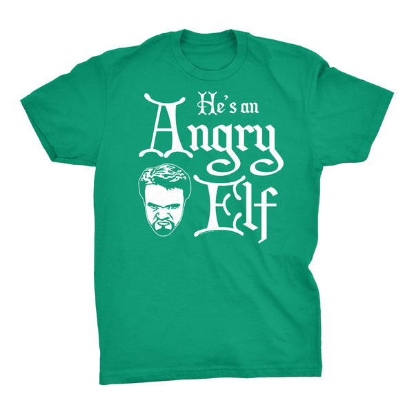 He's An ANGRY Elf - 001 - Ugly Christmas Sweater Party-T-Shirt