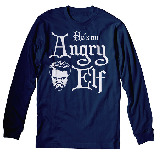 He's An ANGRY Elf - 001 - Ugly Christmas Sweater Party-LongSleeve
